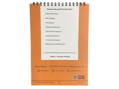 Ayush Paper A4 Spiral Bound Notebook, Blank