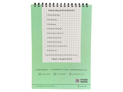 Ayush Paper A4 Spiral Bound Notebook, Dotted