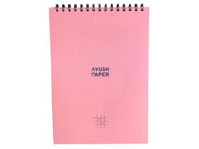 Ayush Paper A4 Spiral Bound Notebook, Grid