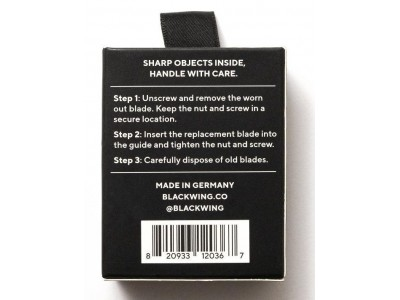 Blackwing Replacement Blades for One-Step Sharpener, per pack of 3