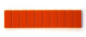 Blackwing Pencil Erasers, Orange, per stick of 10