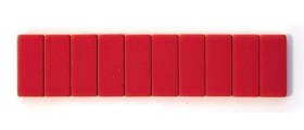 Blackwing Pencil Erasers, Red, per stick of 10