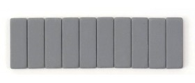 Blackwing Pencil Erasers, Grey, per stick of 10