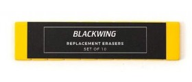 Blackwing Pencil Erasers, Yellow, per stick of 10