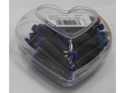 Cresco Ink Cartridges, Heart Shaped Gift Pack of 50