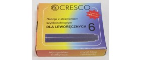 Cresco Quick Drying Ink Cartridges for Left-Handed Writers, per pack of 6