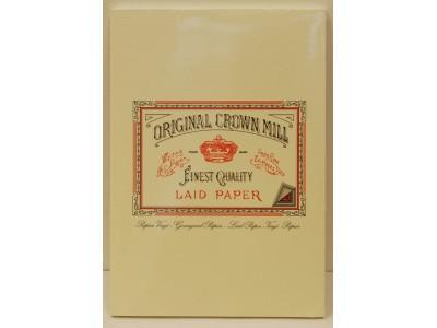 Original Crown Mill Classics Laid Paper Pad, Cream, A5 size, 50 sheets
