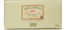 Original Crown Mill Classics Laid Paper Envelopes, Cream, DL size for A4 sheets, per pack of 25