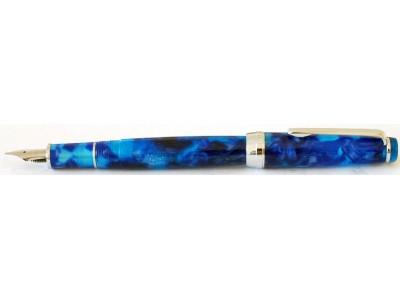 Delike New Moon Resin Fountain Pen, Blue Stardust