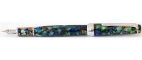 Delike New Moon Resin Fountain Pen, Harlequin