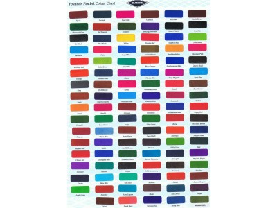 Diamine Ink Cartridges, per pack of 18