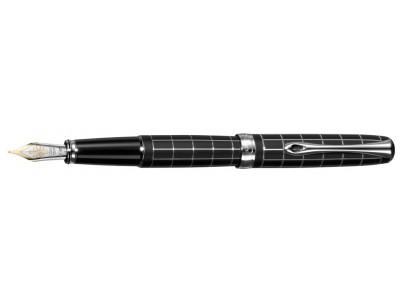 Diplomat A2 Fountain Pen, Lapis Black Matte Chrome