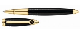 S. T. Dupont Streamline R Rollerball, 252675, Black and Gold