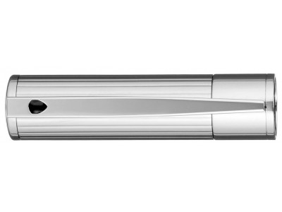 S. T. Dupont D-Initial Fountain Pen, 260204, Black and Chrome