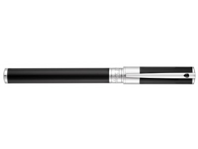 S. T. Dupont D-Initial Rollerball, 262200, Black and Chrome