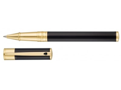 S. T. Dupont D-Initial Rollerball, 262202, Black and Gold