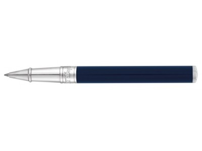 S. T. Dupont D-Initial Rollerball, 262205, Blue and Chrome