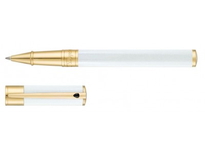 S. T. Dupont D-Initial Fountain Pen, 260206, Pearly White and Golden