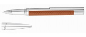 S. T. Dupont Défi Rollerball, 402676, Brown Leather and Palladium