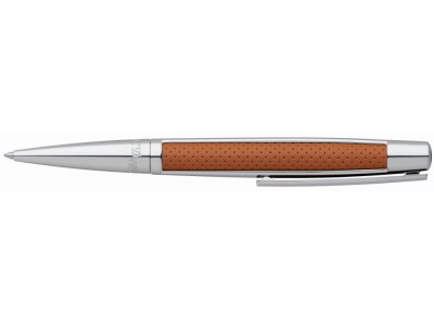 S. T. Dupont Défi Ballpoint, 405715, Brown Leather and Palladium