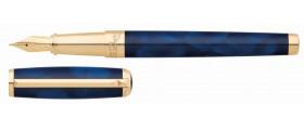 S. T. Dupont Line D Fountain Pen, 410698 Atelier Large Blue Lacquer