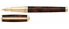 S. T. Dupont Line D Fountain Pen, 410699 Atelier Large Brown Lacquer