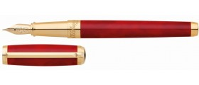 S. T. Dupont Line D Fountain Pen, 410710 Atelier Large Red Lacquer
