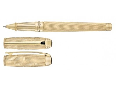S. T. Dupont Line D Rollerball, 412047, James Bond Limited Edition, Guilloche Gold
