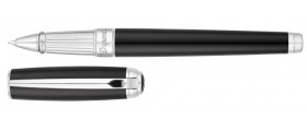 S. T. Dupont Line D Rollerball, 412100L, Large Black Natural Lacquer and Palladium