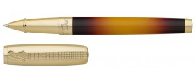 S. T. Dupont Fender Collection Line D Rollerball, 412720 Black and Yellow Sunburst Lacquer