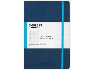 Endless Recorder Notebook, Deep Ocean, Dotted