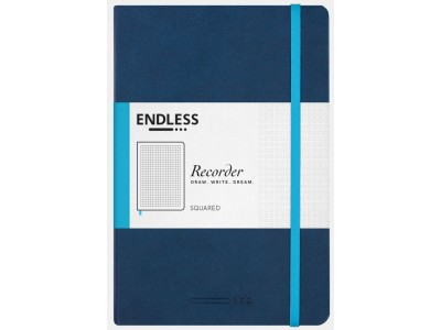 Endless Recorder Notebook, Deep Ocean, Squared