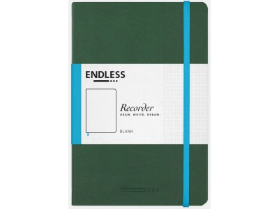 Endless Recorder Notebook, Forest Canopy, Blank