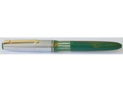 Fellowship Black Bird Eyedropper Fountain Pen, Green/Gold