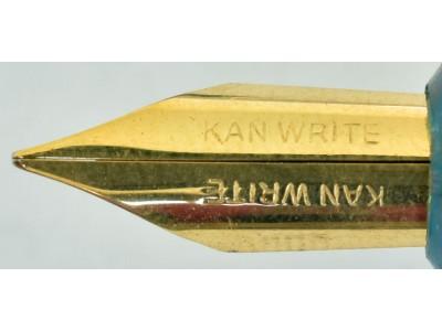 Kanwrite Flexi Nib Eyedropper, Gold Trim, Blue