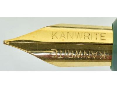 Kanwrite Flexi Nib Eyedropper, Gold Trim, Green