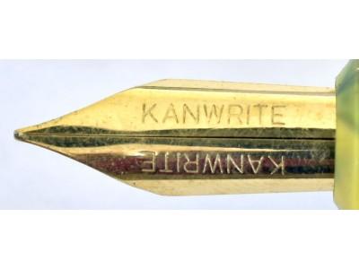 Kanwrite Flexi Nib Eyedropper, Gold Trim, Yellow