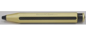 Kaweco AC-Sport Carbon Fibre Ballpoint, Gold Champagne