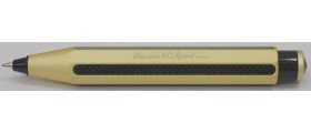 Kaweco AC-Sport Carbon Fibre Pencil, Gold Champagne