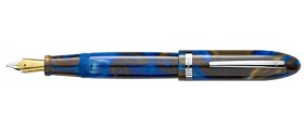 Laban Large Resin Fountain Pen, Blue Tint