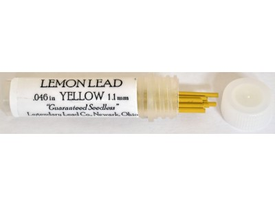 "Legendary Lead Company 1.18mm Leads, ""Lemon Lead"", Yellow, per pack of 12"