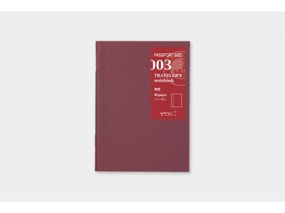 Traveler's Company (Midori) Notebook Refill, Passport Size, 003 Blank Notebook
