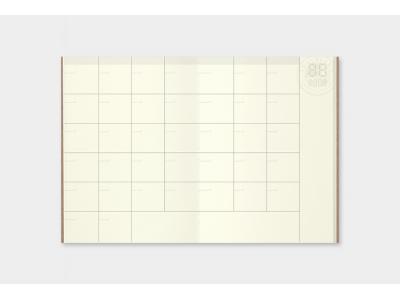 Traveler's Company (Midori) Notebook Refill, Passport Size, 006 Free Diary (Monthly)