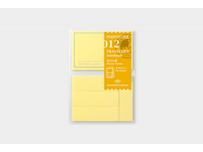 Traveler's Company (Midori) Notebook Refill, Passport Size, 012 Sticky Notes
