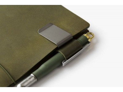 Traveler's Company (Midori) Notebook Refill 016, Pen Holder Olive Limited Edition