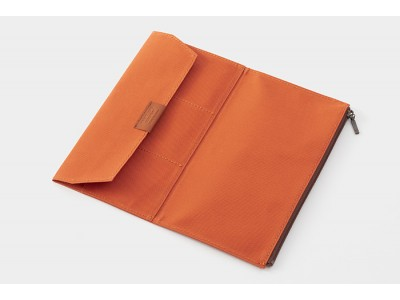 Traveler's Company (Midori) B-Sides & Rarities Notebook Refill, Standard Size, Cotton Zipper Case, Orange