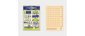 Traveler's Company (Midori) Notebook Refill, Passport Size, Underlay 2018
