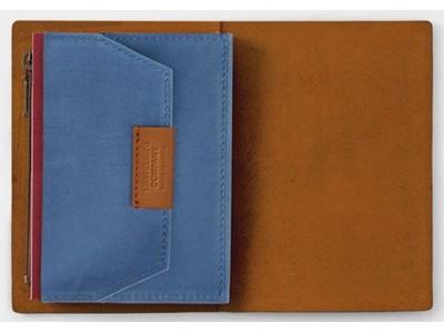 Traveler's Company (Midori) B-Sides & Rarities Notebook Refill, Passport Size, Cotton Zipper Case, Blue