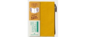 Traveler's Company (Midori) B-Sides & Rarities Notebook Refill, Passport Size, Cotton Zipper Case, Mustart