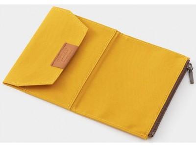 Traveler's Company (Midori) B-Sides & Rarities Notebook Refill, Passport Size, Cotton Zipper Case, Mustart